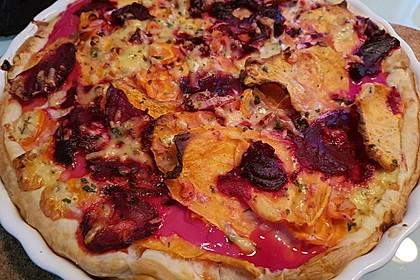 Blätterteigtarte mit Süßkartoffeln und Roter Bete 3