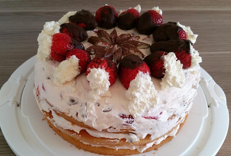 Yogurette Torte Erdbeertorte Von Cherrylein Chefkoch De