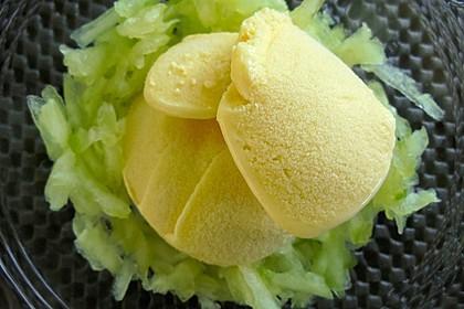 Wasabi-Eis auf Gurken 2