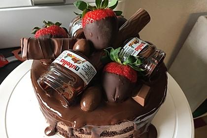 Rocher Torte mit Nutella und Haselnüssen 2