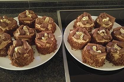 Rocher Torte mit Nutella und Haselnüssen 13