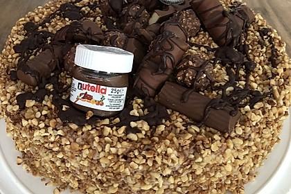 Rocher Torte mit Nutella und Haselnüssen 4
