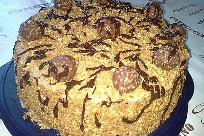 Rocher Torte mit Nutella und Haselnüssen 10