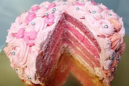 Ombre-Torte mit rosa Creme 1