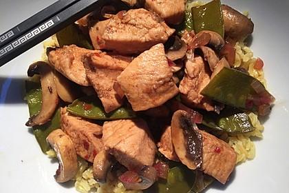 Champignon-Hähnchen mit Tamarindensauce