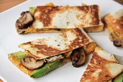 Vegane Süßkartoffel Quesadillas