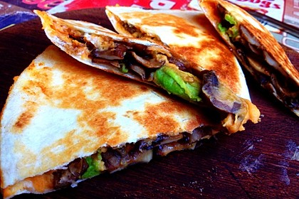 Vegane Süßkartoffel Quesadillas 1