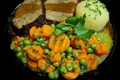 Cremiges Erbsen-Möhren-Gemüse (Bild)