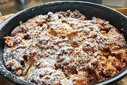 Apfelkuchen mit Walnuss-Belag (Bild)