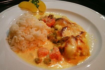 Curry Huhn mit Aprikosen und Pistazien 2