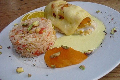 Curry Huhn mit Aprikosen und Pistazien 3