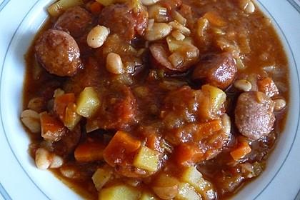 Bohnensuppe mit Mettenden (Bild)