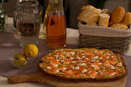 Zitronen-Kaviar-Pizza