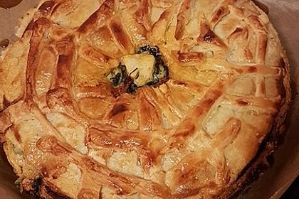 Blätterteig - Pie mit Hackfleisch - Spinat Füllung 7