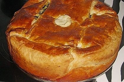 Blätterteig - Pie mit Hackfleisch - Spinat Füllung 17