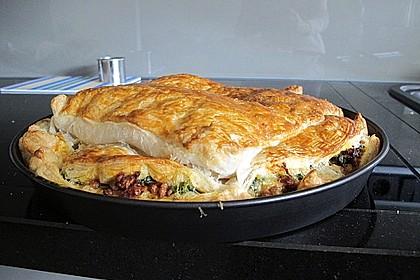 Blätterteig - Pie mit Hackfleisch - Spinat Füllung 23