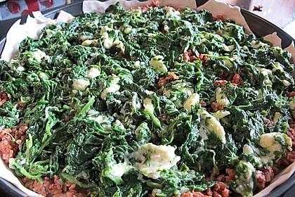 Blätterteig - Pie mit Hackfleisch - Spinat Füllung 20
