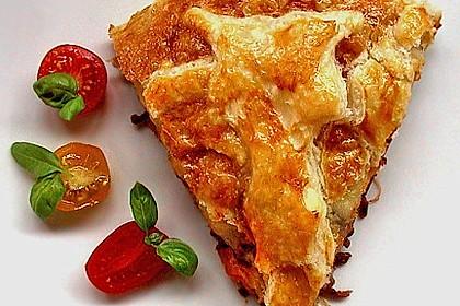 Blätterteig - Pie mit Hackfleisch - Spinat Füllung 4