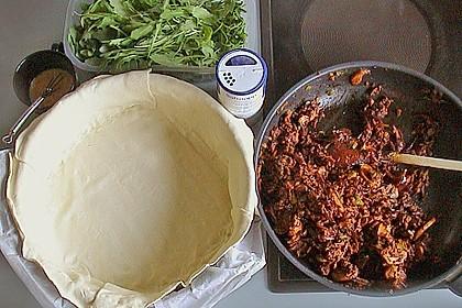 Blätterteig - Pie mit Hackfleisch - Spinat Füllung 16