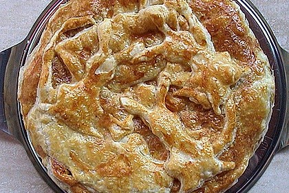Blätterteig - Pie mit Hackfleisch - Spinat Füllung 21