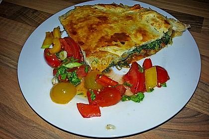 Blätterteig - Pie mit Hackfleisch - Spinat Füllung 6