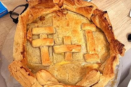 Blätterteig - Pie mit Hackfleisch - Spinat Füllung 12