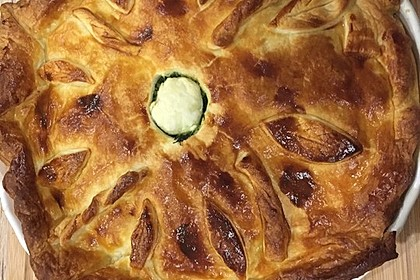 Blätterteig - Pie mit Hackfleisch - Spinat Füllung 14