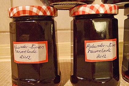 Holunder - Birnen - Marmelade
