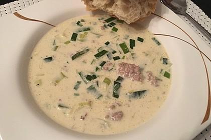 Porree - Käse - Suppe