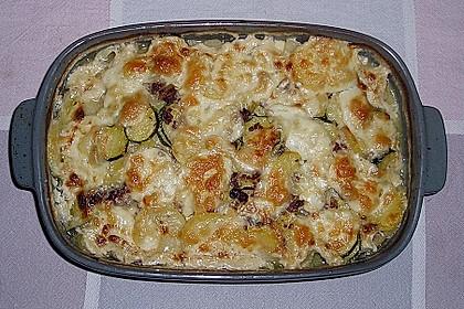 Kartoffel - Zucchini - Porree - Auflauf mit Hack 6