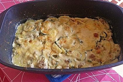 Kartoffel - Zucchini - Porree - Auflauf mit Hack 12