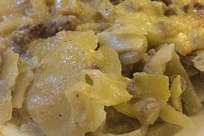 Kartoffel - Zucchini - Porree - Auflauf mit Hack 4