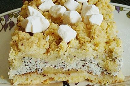 Mohn - Apfelkuchen mit Streusel 5