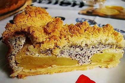 Mohn - Apfelkuchen mit Streusel 6