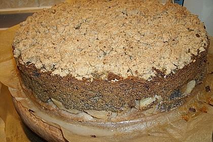 Mohn - Apfelkuchen mit Streusel 13