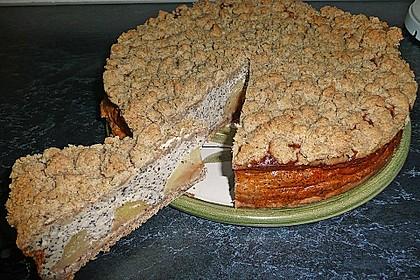 Mohn - Apfelkuchen mit Streusel 20
