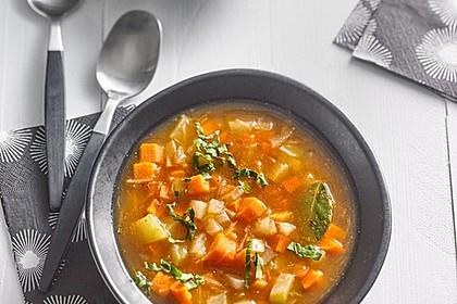 Karotten-Kohlrabi-Kartoffelsuppe mit Ingwer 3