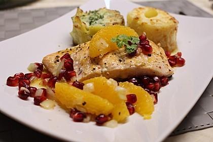 Lachs mit Orangen-Granatapfel-Salsa 1