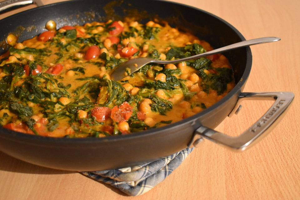 Leichte Schnelle Sommerküche : Schnelles spinat kichererbsen gericht von agiagi chefkoch