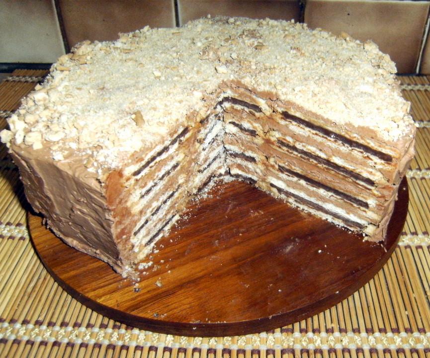Prinzenrollen Torte Mit Schokoladen Buttercreme Von Carco Chefkoch De