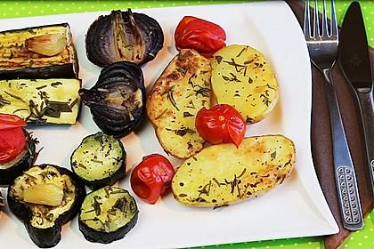 Geröstetes Gemüse vom Backblech