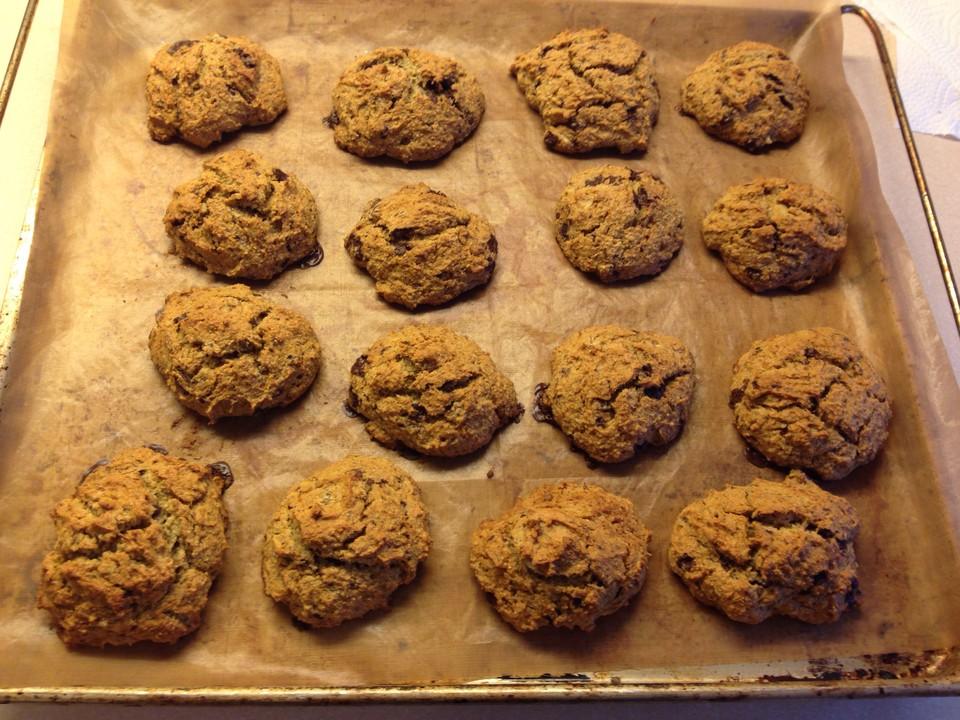 Vegane Cookies Mit Kokosmehl Und Weisser Reismilchschokolade Von
