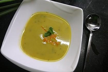 Zucchini-Orangen-Cremesuppe