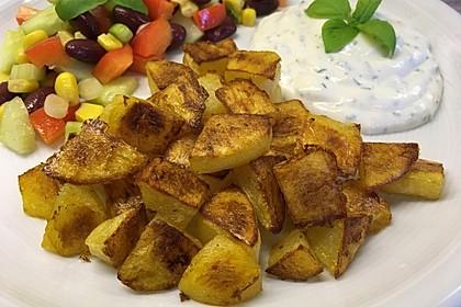 Einfache Kartoffelecken (Bild)