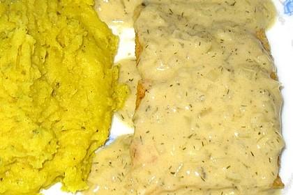 Zanderfilet in Zitronen-Dill-Sahne-Senf-Sauce 1