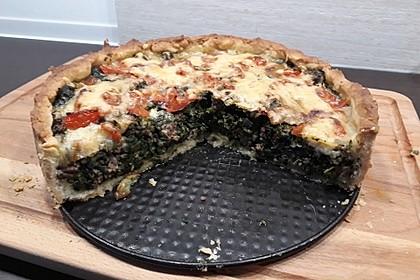 Spinat-Hackfleisch-Kuchen (Bild)