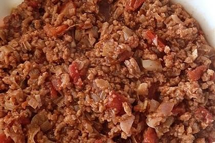 Seitan-Tomaten-Kartoffel-Lauchauflauf (Bild)