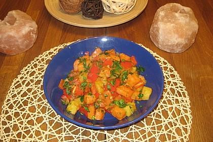 Geröstete Süßkartoffelwürfel mit Paprika-Gemüse 1