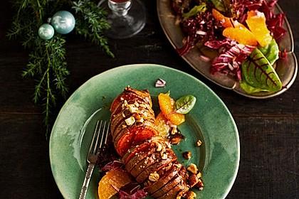 Weihnachtliche Süßkartoffel mit einer Nuss-Variation