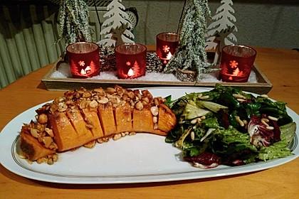 Weihnachtliche Süßkartoffel mit einer Nuss-Variation 4